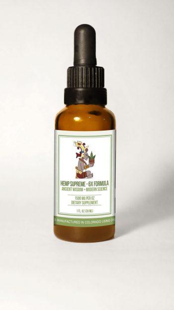 HempSupreme 6x Bottle withBG scaled 350x622 - Hemp Supreme Full Spectrum Oil 6X Strength (1,500 mg CBD per 30 ml.)