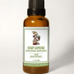 HempSupreme Bottle withBG scaled 250x250 - Hemp Supreme Full Spectrum Oil (250 mg CBD per 30 ml.)