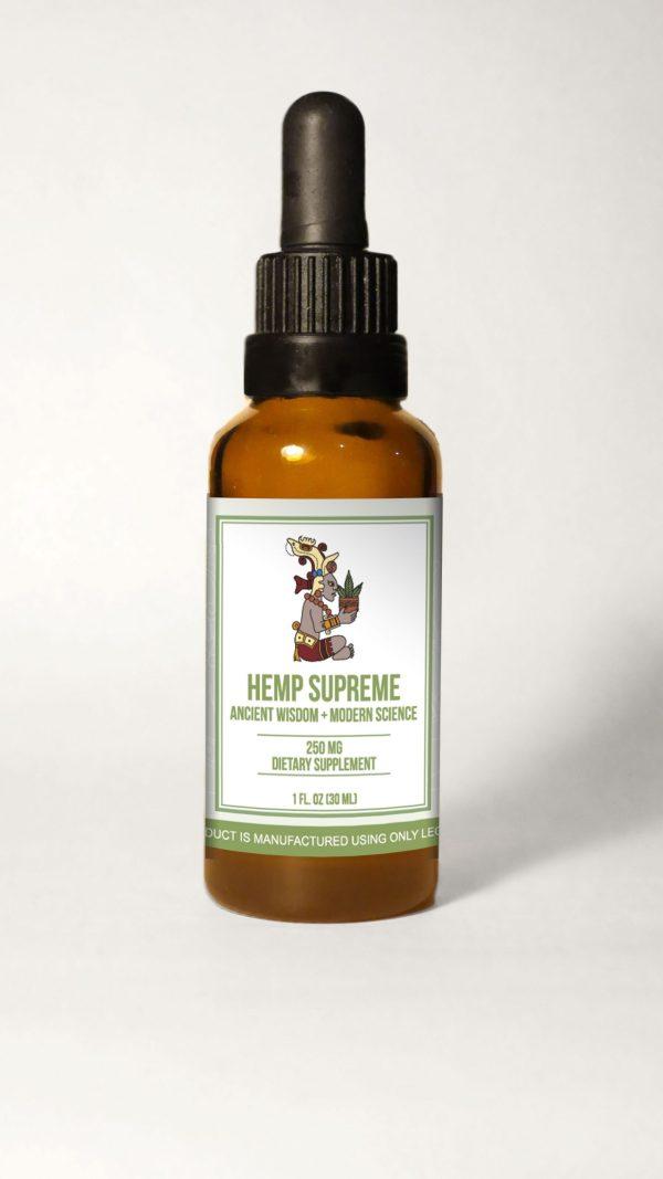 HempSupreme Bottle withBG scaled 600x1067 - Hemp Supreme Full Spectrum Oil (250 mg CBD per 30 ml.)