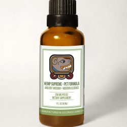 Pet Bottle withBG scaled 250x250 - Hemp Supreme Full Spectrum Oil - Pet Formula (250 mg CBD per 30 ml.)