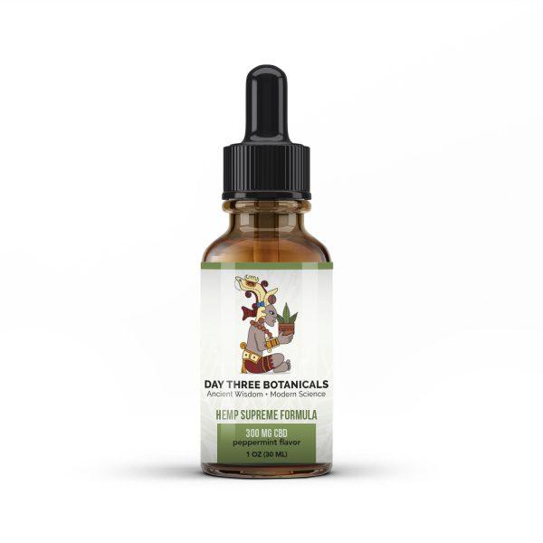 hemplabel mockup 300mg 600x600 - Hemp Supreme Full Spectrum Oil (300 mg CBD per 30 ml.)